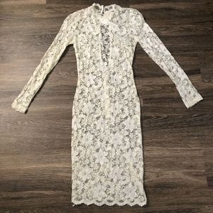 ASTR Lace Dress See Through Ivory Women XS NWT